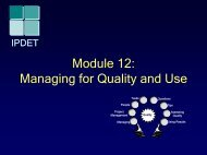 Module 12: Managing for Quality and Use