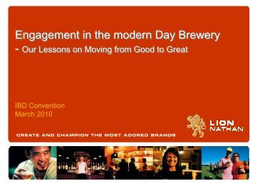 Engagement and Culture in the Modern Brewery