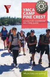 YMCA CAMP PINE CREST - YMCA of Greater Toronto