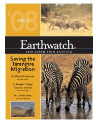 Saving the Tarangire Migration - Earthwatch Institute