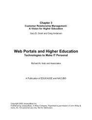 Customer Relationship Management: A Vision for ... - EDUCAUSE.edu