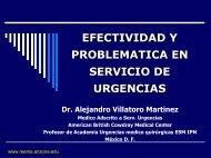 EFECTIVIDAD Y PROBLEMATICA EN SERVICIO DE URGENCIAS