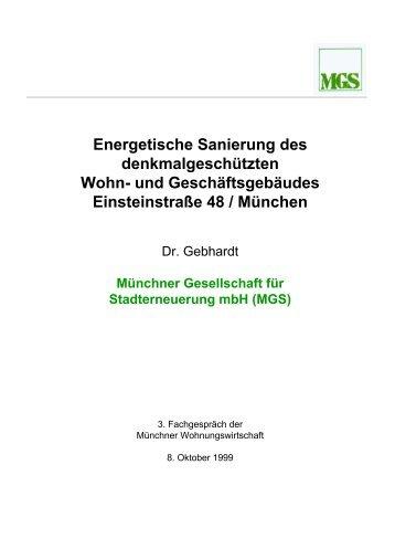 Energetische Sanierung Einsteinstr. 48