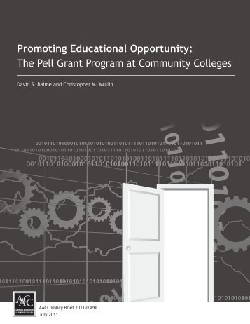 Promoting Educational Opportunity: The Pell Grant - American ...
