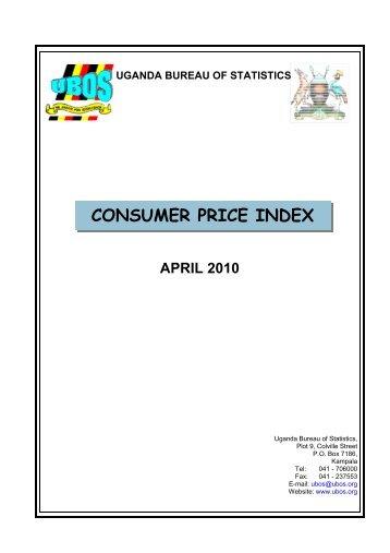 CPI April - Uganda Bureau of Statistics