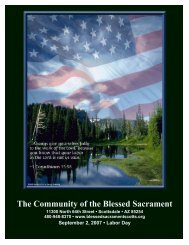 The Community of the Blessed Sacrament - The Catholic ...