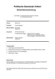 Protokoll vom 10.12.2004 - Gemeinde Volken