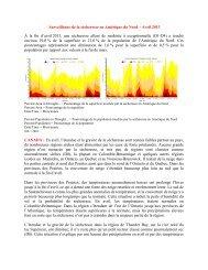 Surveillance de la sécheresse en Amérique du Nord – Avril 2013 À ...
