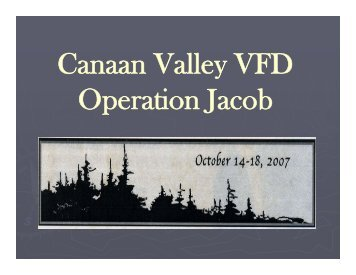 Canaan Valley VFD Operation Jacob