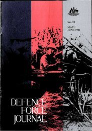 ISSUE 28 : May/Jun - 1981 - Australian Defence Force Journal