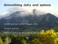 Smoothing data and splines - IMAGe