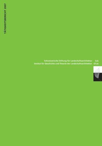tätigkeitsbericht 2007 - Gtla.hsr.ch - HSR Hochschule für Technik ...