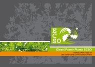 Diesel Power Plants ECSO - ECSO Klimatechnik
