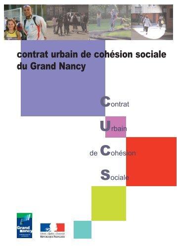 contrat urbain de cohésion sociale du Grand Nancy - SIG Politique ...