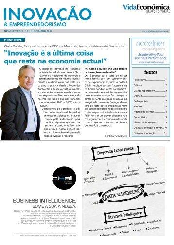 """""""inovação é a última coisa que resta na economia ... - Vida Económica"""