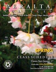 Spring Schedule 2008 - Peralta Colleges