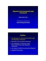 Myanmar's Environmental Legal Framework - GMS-EOC