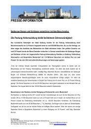 PRESSE-INFORMATION - Salzburgs Burgen und Schlösser