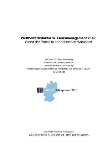 Kurzfassung der Studie - Forschung & Entwicklung
