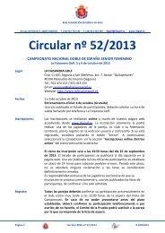 Circular nº 52/2013 - Real Federación Española de Golf