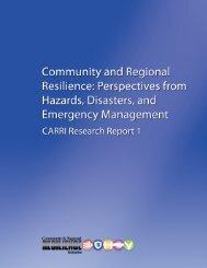 Community and Regional Resilience - Community & Regional ...