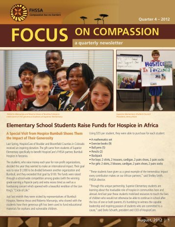 Focus on Compassion - Foundation for Hospices in Sub-Saharan ...
