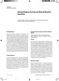 Head-Up-Guidance-Systeme und Mensch-Maschine - Zeitschrift für ...