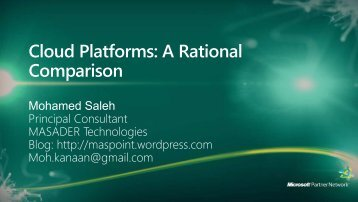 Cloud Platforms: A Rational Comparison