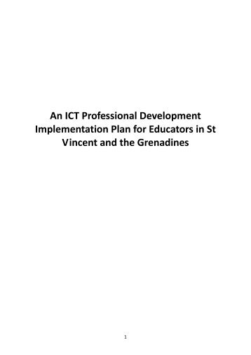 St Vincent & Grenedines - Teacher Training materials for ICT in ...