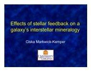 Effects of stellar feedback on a galaxy's interstellar mineralogy