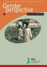 Gender perspective : Focus on the rural poor - IFAD