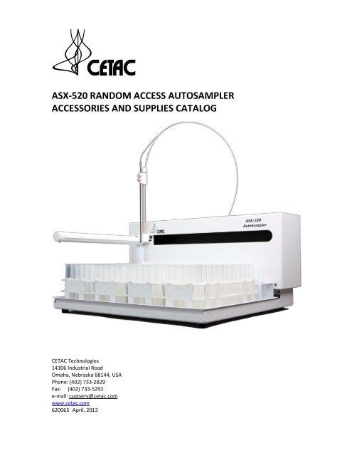 Cetac asx-520 automation autosamplers random access.