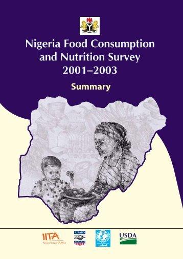 Nigeria food consumption and nutrition survey 2001-2003 - IITA