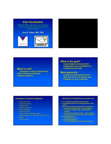 Data Visualization - Computational and Systems Biology