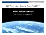 CDP Agriculture Supply Chain Pilot 2011 Carbon ... - C-AGG