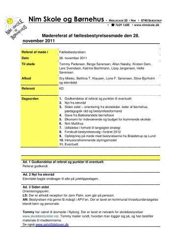 referat 33 28. november 2011 - Nim Skole
