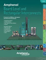 Board Level and Rectangular Interconnects - Amphenol Aerospace