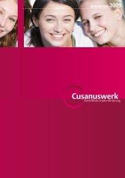 Jahresbericht 2009 - Cusanuswerk