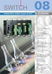 INTERNATIONAL JOURNAL Ausgabe 08/2007 - Schmersal