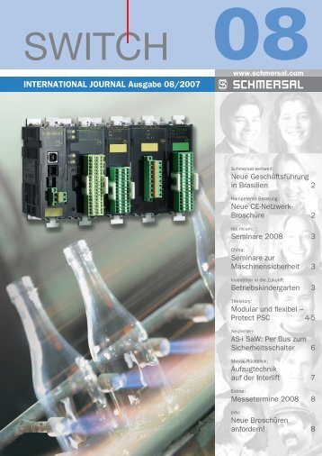 INTERNATIONAL JOURNAL Ausgabe 08/2007 - Schmersal