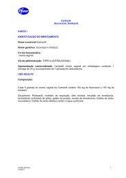 Cartrax® (tioconazol, tinidazol) PARTE I IDENTIFICAÇÃO ... - Onofre