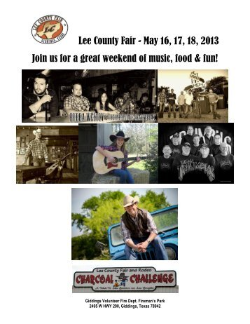 Lee County Fair - May 16, 17, 18, 2013 Join us for a great weekend ...