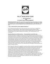 Pella® Wood Entry Door Warranty - Pella.com