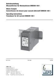 Betriebsanleitung Messumformer für Wechselstrom ... - Mbs-ag.com