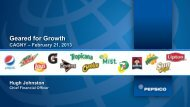 Geared for Growth - PepsiCo