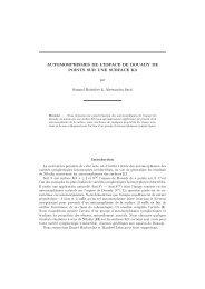 AUTOMORPHISMES DE L'ESPACE DE DOUADY ... - Mathématiques
