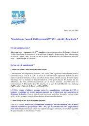 Négociation de l'accord d'intéressement 2009-2011 : où en ... - UNSA