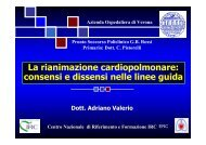 La rianimazione cardiopolmonare: consensi e - Cuorediverona.it
