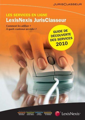 comment utiliser le service - LexisNexis