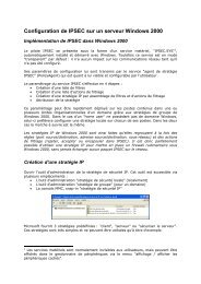 Configuration de IPSEC sur un serveur Windows 2000